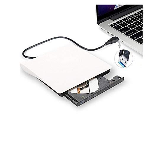 AMZSELLER External Dvd Drive External USB 3.0 Drive CD-RW DVD-ROM DVD-RW Burner Player USB Portable CD Reader For Windows7/8/10 PC Laptop External Cd Drive (Color : White)