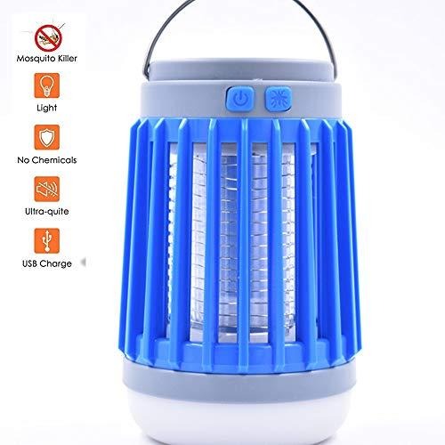 SIBEI Bug Zapper Luce, zanzara Lampada UV Insetti Trappola Portable 2 in 1 Mosquito Zapper Tenda Luce di Campeggio della Lanterna della zanzara Assassino di Campeggio Esterna al Coperto,Solar Models