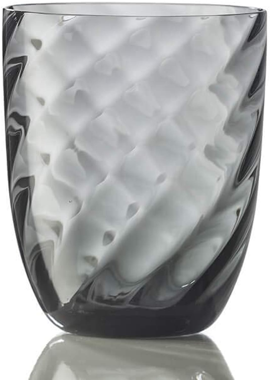 Nason Moretti Idra optique tordu verre eau gris