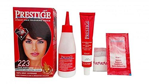 Pack économique de 2 teintures en crèmes colorantes pour les cheveux, couleur acajou foncé 223