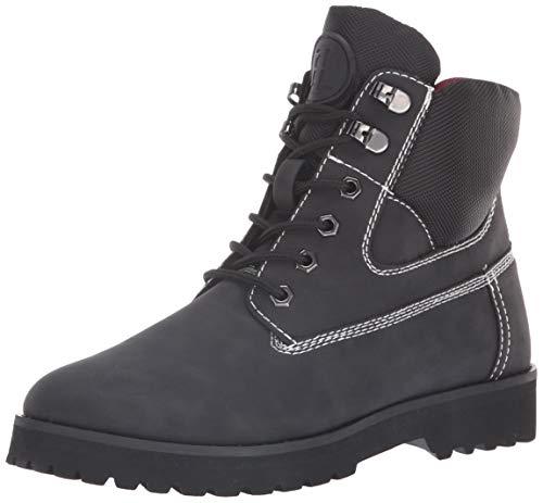 Tommy Hilfiger Women's POMA Combat Boot, Black, 7.5