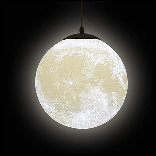 3D Printing Moon Pendant Lights - Universe Planet Ceiling Night Lamp Creative Lantern Restaurant Bar Home Children Bedroom LED Hanging Lighting(Light Bulb is Not Included)