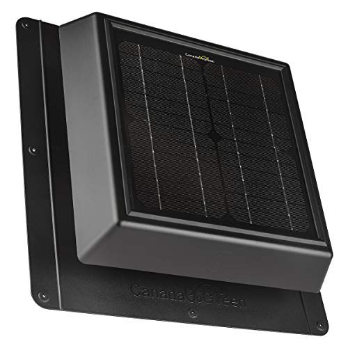 Canada Go Green 4 Seasons Solar Vent, 400 CFM Airflow, up to 500 sq ft Space, Polycarbonate Body, Quiet Operation