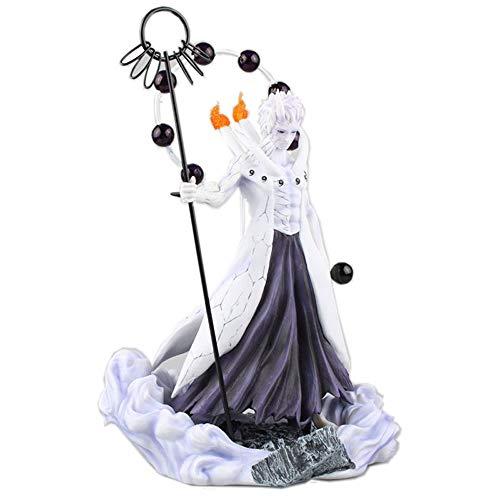 STKCST Naruto Anime Figuren Figuren Uchiha Obito GK Austauschbarer Kopf Boxed Hochwertiges Spielzeug Geschenke Höhe 24 cm