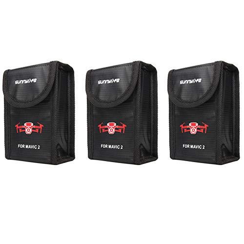 Anbee Mavic 2 Lipo Battery Safe Bag Fireproof Storage Bag for DJI Mavic 2 Zoom/Pro Drone (Small, 3-Pack)