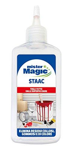 Mister Magic, Pulitore Staac, Elimina Residui Collosi, Gommosi e le Macchie di Colore, 150 ml