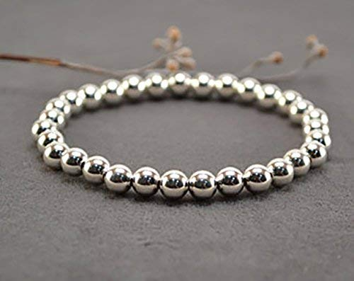 Fashion Stretchy Silver Color Beads Bracelet For Women/Girls