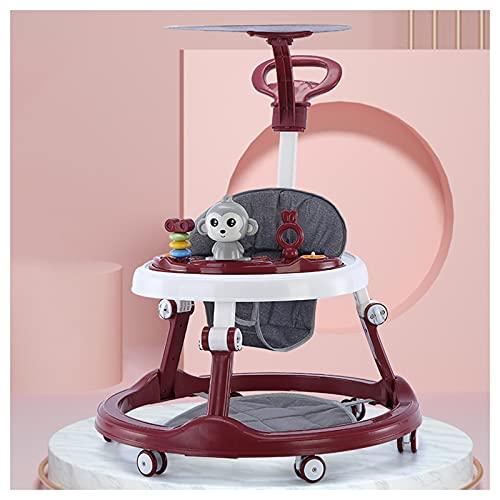 CJW-LC Andador Multifunción para Bebés, 6 Velocidades Altura Ajustable Fácil De Plegar Andadores para Bebés, con 6 Ruedas Silenciosas Adecuado para Niños Y Niñas De 6 A 18 Meses,L