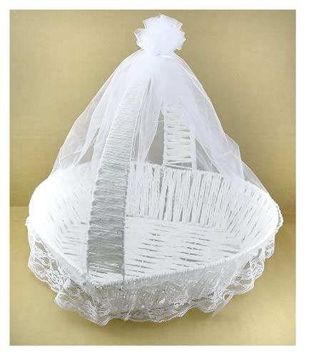 Großer Korb Original Herz Korb Weiß Deko Container Dragées / Geschenke Zubehör Henna Hochzeit Verlobungszeremonie