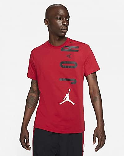 Nike CZ8402-687 M J JDN AIR Stretch SS Crew T-Shirt Mens Gym red/Black/White L