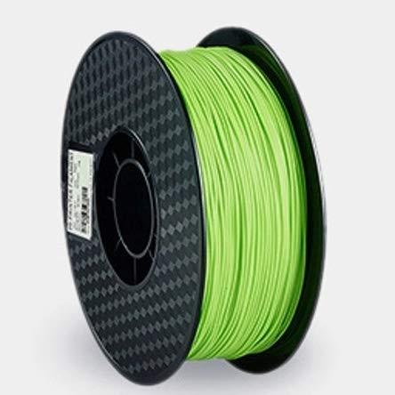 NO LOGO LSB-3D Prints, 1,75 mm 1pc PLA PLA filamento 9 Colores del filamento en Forma for CREALITY 3D Impresora 3D FFF (Color : Verde)