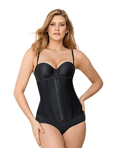 Instant Hourglass Waist Trainer with Boning Black