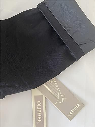 OLIPHEE Mujer Blazer Traje De Chaqueta Ropa Trabajo Casual OL Oficina Negocio con Bolsillo Negro-L