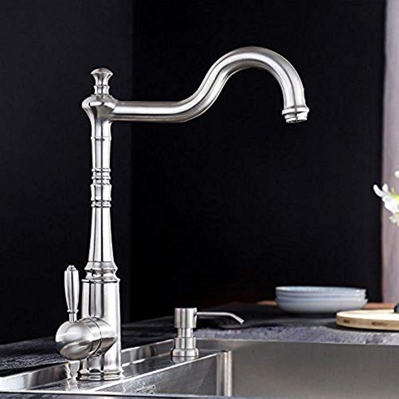 360 ° drehbarer Wasserhahn Retro Wasserhahn Küchenhahn Antike Wasserhhne Retro Küchenspüle Kaltwasserhahn Slot