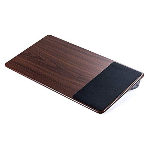 サンワダイレクト ひざ上テーブル ノートPC/タブレット用 15.6型対応 マウスパッド・クッション付き 木目調 200-HUS007