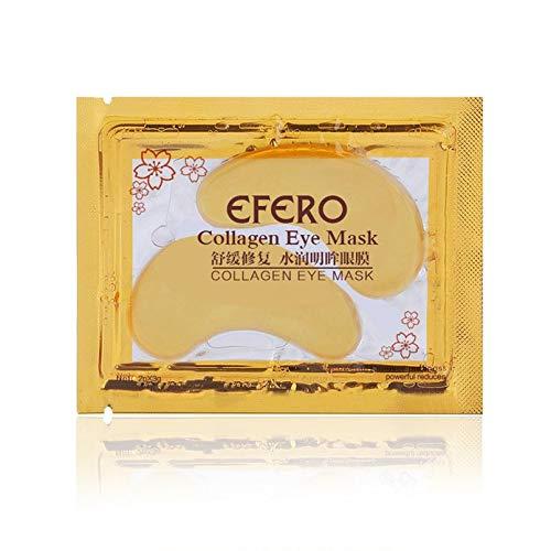 Goud 24K sjablonen-collageen-oogmasker anti-aging anti-rimpels verwijderen donkere cirkels