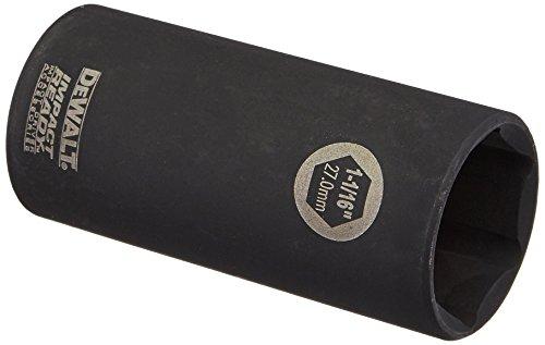 DEWALT DW22952 1-1/16-Inch IMPACT READY Deep Socket for 1/2-Inch Drive