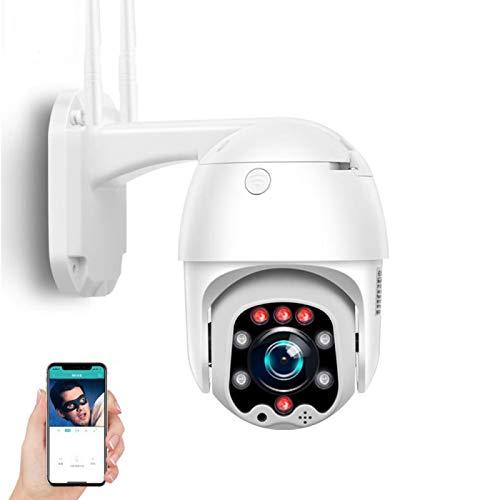 Cámara de vigilancia IP Exterior,Cámara de seguridad 3G/4G SIM,PTZ 1080P HD visión nocturna,detección de movimiento,alarma,voz bidireccional,impermeable,para garaje/puerta (Cámara+tarjeta TF de 32G)