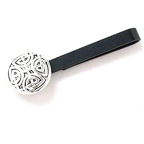 Williams and Clark Celtic Cross Tie Bar Clip Norse Swirl Suit England Knight Medieval Viking Black Men's Tieclip