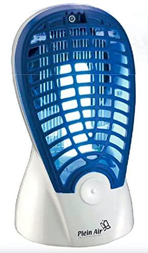 Mosquitera eléctrica insecticida de descarga con ventilador de aspiración y lámpara actínica de 13 W