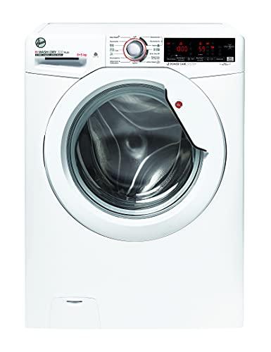 Hoover H-WASH 300 PLUS H3DSQ485TAME -84 - Lavatrice 8 kg, asciugatura 5 kg, funzionamento intelligente con tecnologia NFC, ActiveSteam: funzione vapore, Power Care System