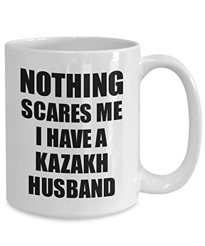 Zachrtroo Kasachischer Ehemann-Becher Lustiges Valentinsgruß-Geschenk für Frau Mein Gatte Wifey Ihr Kasachstan-Ehemann-Gag Nichts erschrickt Mich Kaffee-Tee-Schale