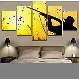 ZSYNB 5 lienzos HD Impreso 5 Piezas Caza Puesta de Sol Paisaje Cuadros Decoracion Pinturas sobre Lienzo Arte de la Pared para Decoraciones del hogar Decoración de la Pared