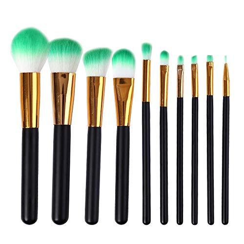 WHBQ Pinceaux Maquillage Ombre à Paupières Foundation Gloss Correcteur Lèvre Outils Beauté pour Professionnels Et Débutants Paquet 10 Pack