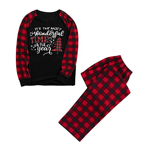 Dasongff Weihnachten Schlafanzug für die ganze Familie, Mutter/Vater/Kind...