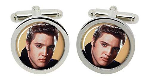 Gift Shop Elvis Presley Manschettenknöpfe in Chrom Kiste