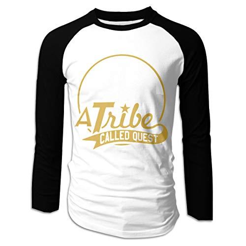 A Tribe Called Quest New York Skyline Men's Long Sleeve Raglan Baseball T-Shirt Classic Adult Cotton Top Tee XL Black