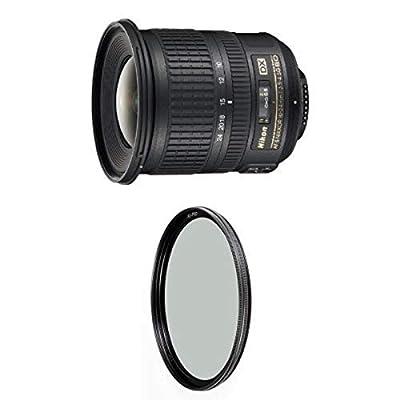 Nikon 10-24mm f/3.5-4.5G ED Auto Focus-S DX Nikkor Wide-Angle Zoom Lens for Nikon Digital SLR Cameras w/ B+W 77mm XS-Pro HTC Kaesemann Circular Polarizer from