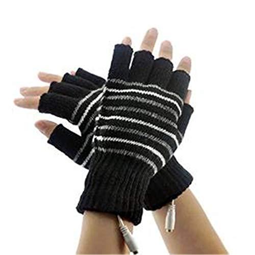 Mariisay Guantes Eléctricos Sin Dedos Diseño Calentado Chic Portátil Casual Ordenador Cálido Calentamiento De La Mano Venta de Moda A Mano Guantes De Medio Dedo