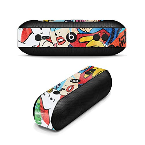 MightySkins Glossy Glitter Skin for Beats Pill Plus - Cartoon Mania | Protective, Durable High-Gloss Glitter Finish | Easy to Apply, Remove, and Change Styles | Made in The USA