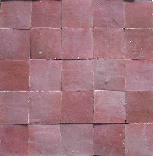 1m² cerámica azulejos zelliges FliesenBild pared azulejos mosaico azulejos marroquí Loza Rosé vidriado. zellige
