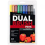 Tombow 56167 Dual Brush Pen Art Markers, Primary, 10-Pack....