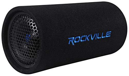 "Rockville RTB65A 6.5"" 300w Powered Active Car Subwoofer Bass Tube + MP3 Input, Black"