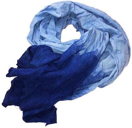 XL Tuareg Blue Scarf - 14ft Dark Wash Indigo Dye Tagelmust