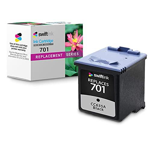 Black Ink Cartridge for Hewlett Packard CC635A (HP 701)