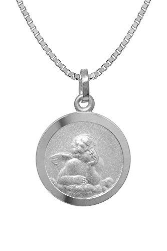 trendor Kinder-Halskette mit Schutzengel-Anhänger Silber 925 73181