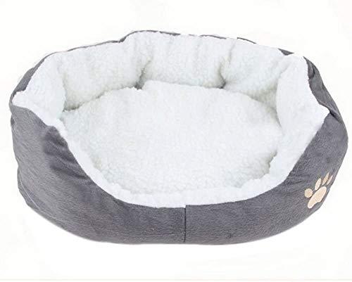 Cdet Rond ou Ovale en Forme de Coussin Matelas lit pour Chien/Chat Animaux Lit Pet Cat Bed pour Chats et Petits Chiens Fournitures pour Animaux 1PC Size 45 * 35 * 15cm
