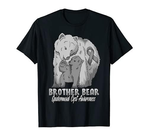 Cinta de apoyo para hermano oso de histas epidermoides Camiseta