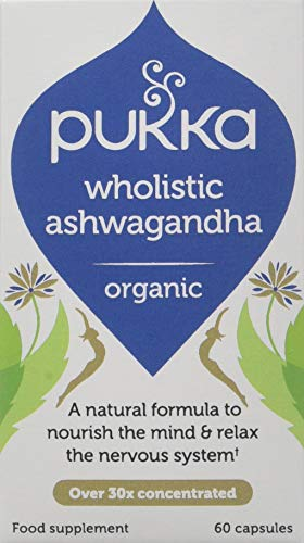 Pukka Herbs Wholistic Ashwagandha, Organic Natural Formula, Pack of 60 Capsules
