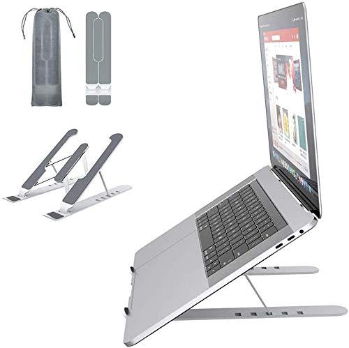 VersionTECH. Soporte Portátil Mesa 6 Ángulos Ajustables, Plástico ABS+silicona+aleación de aluminio, Soporte Ventilado Plegable, Laptop Stand, Ligero Soporte Mesa para Macbook DELL XPS, HP, PC 10-15.6