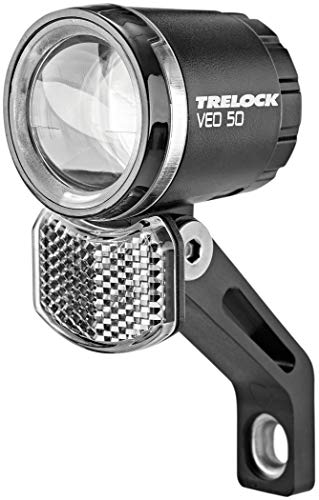 Trelock Unisex– Erwachsene LED-Scheinwerfer Bike-i Veo 50, Unisize