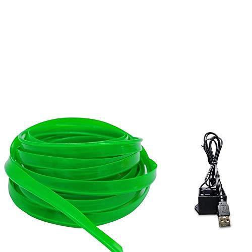 Luces LED de colores con guirnaldas luminosas de neón, 10 m con tiras luminosas flexibles e impermeables, luces de decoración de coche con controlador