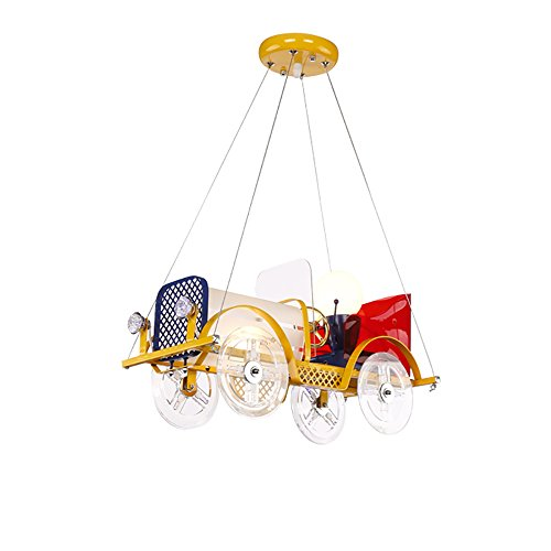 YONGMEI Chandelier de bande dessinée, garçon, fille, chambre d'enfant, lampe de chambre à coucher, lampe décorative (taille : Small)