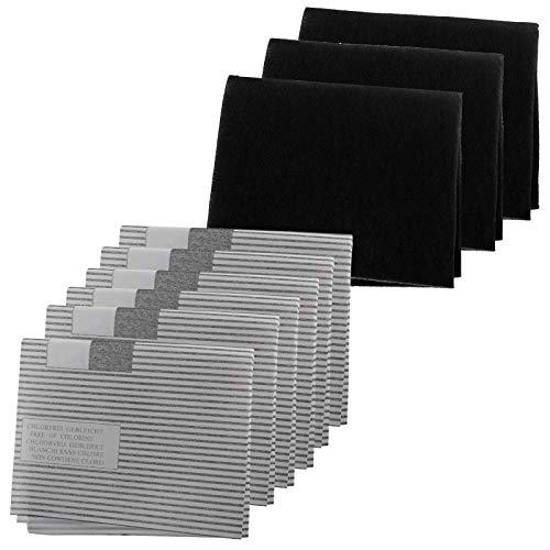 SPARES2GO Kit de filtres à graisse pour hotte aspirante Broan (6 filtres à graisse, 3 filtres à charbon)