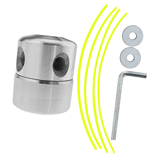 D2D 2 x Aluminium Rasentrimmer Kopf Mäher Zubehör Spulen Set Garten Benzin Motorsense Werkzeuge