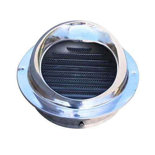 JXJ Campana de ventilación de Acero Inoxidable 304 para Exteriores, Campana de ventilación, protección contra pájaros, Campana de Escape, 60 mm